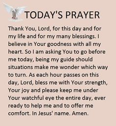 What do you think?Good prayer for everyday Prayer Times, Prayer Scriptures, Bible Prayers, Faith Prayer, Catholic Prayers, God Prayer, Prayer Quotes, Movitational Quotes, Bible Verses