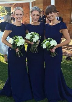 mermaid bridesmaid dresses,long bridesmaid dresses,navy blue bridesmaid dresses,cheap bridesmaid dresses @simpledress2480