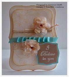 Heartfelt Creations | Beige Posy Patch Swirls Card