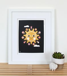 BLACK BOUQUET SUN PRINT  |  Carpenter Collective