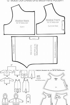 Free Printable 18 Doll Clothes Patterns American Girl - Bing images