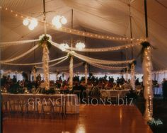 tents for wedding reception | tent wedding decorating with lights