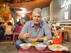 """""""I am constantly shocked by what we eat in this country though; like, the Cinnabon."""" - Anthony Bourdain"""
