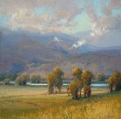 Clearing in the Valley by Kim Casebeer Oil ~ 24 x 24