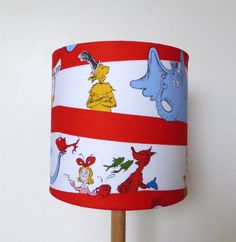 Dr Seuss Fabric Lampshade | Children Lamp Shade | Kids |  Horton | the cat in the hat