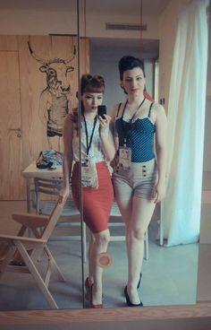 Rockabilly Girls --really want a skirt like that