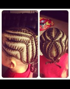Little boy cornrow braids