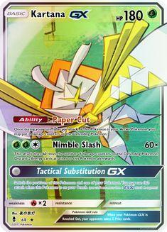 Kartana GX by KnightofDust Fire Pokemon, Pokemon Umbreon, Pokemon Manga, Pokemon Fusion, Fake Pokemon Cards, Pokemon Cards Legendary, Cool Pokemon Wallpapers, Cute Pokemon Wallpaper, Greninja Card