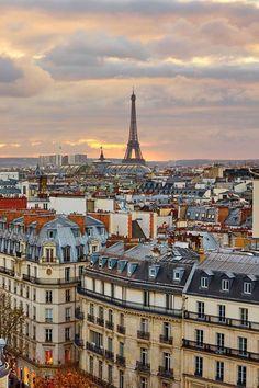 The divine Parisian skyline by Vicki Archer.