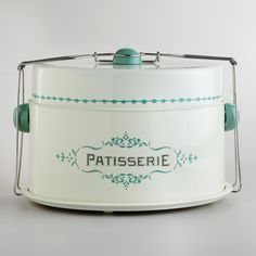 Cream Patisserie Cake Carrier | World Market | Carry a cake and a pie at the same time!
