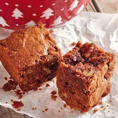 Lebkuchen-Brownies mit Karamell