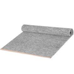 design house stockholm - lena bergström - wool + leather - björk rug, bright grey