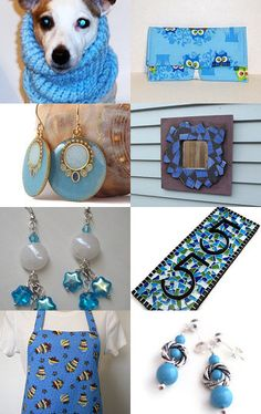 Gorgeous collection of blue items on Etsy!--Pinned with TreasuryPin.com
