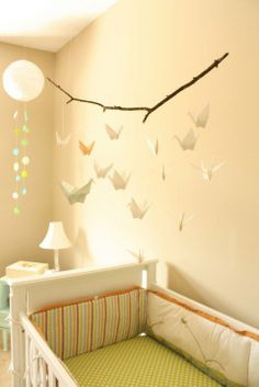Inspiration: Favorite Mobiles Add a whimsical touch to your nursery with a origami mobile.Add a whimsical touch to your nursery with a origami mobile. Project Nursery, Nursery Decor, Nursery Mobiles, Nursery Room, Nursery Ideas, Mobiles Diy, Room Ideas, Origami Paper Crane, Paper Cranes