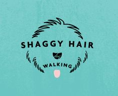 Shaggy Hair Dog Logo by makeliketova, via Flickr