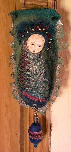 THE FABRIC OF MEDITATION - SARA LECHNER'S BLOG: New Challenge starting 1st June 2015 - Hanging doll challenge