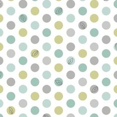 Patty Sloniger - Backyard Baby - Lotsa Dots in White -- maybe for hall bath shower curtain