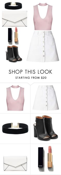 """Pretty pink and white"" by anyaaa04 on Polyvore featuring Miss Selfridge, Maison Margiela, LULUS and Chanel"