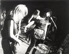 The Guttersluts live in black & white   #sf #bands #music
