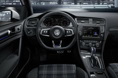Inside the Golf GTE's cabin