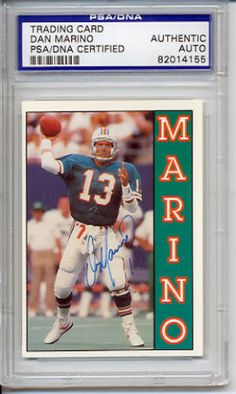 Dan-Marino-Signed-Autographed-Card-PSA-DNA #danmarino #marino #signedcard #autograph #keepersunlimited #football