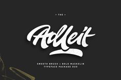 Aldeit Brush Script Free Demo is a hand lettering brush style typeface. Aldeit is coming to give you ease in accomplishing the work of typography such...