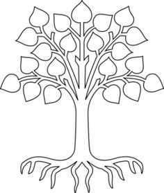 Tree With Roots/white clip art - vector clip art online, royalty ...