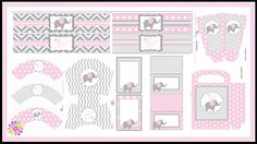 Baby ElephantPrintable Party Set DIY DigitalParty by IdeasGlint