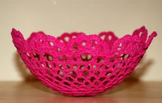 How to Make a Doily Lace Bowl