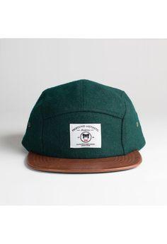 The League Veteran Wool Five Panel Hat in Forest i wan it