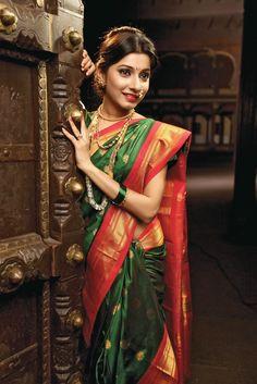Peshwai Nauvari Saree # marathi