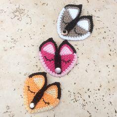 CROCHET PATTERN, PDF, Crochet fox applique, fox applique pattern,Tunisian fox pattern fox embellishmen,fox brooch, baby Onesie applique