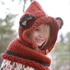 Vixen Fox Cowl  Hood Hat Photo Prop Photography by funkybabyhats, $50.00