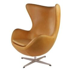 Amazon.com: Fine Mod Inner Leather Chair, Light Brown: Home & Kitchen