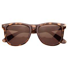 Classic Large Polarized Lens Horned Rim Sunglasses 6105