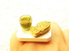 Kawaii Cute Japanese Food Ring Taiyaki Green by SouZouCreations, $12.50