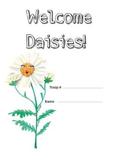 """A great way to introduce Daisy Girl Scouts to opening and closing ceremonies, practice with the promise and law, and other basic resources.  Make a booklet for all the girls in the troop.  Girls can earn their """"Responsible For What I Say and Do"""" badge by bringing their Daisy Notebook to each Girl Scout meeting."""