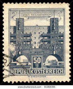 stamps austria 50  bulding | AUSTRIA - CIRCA 1958: A stamp printed in Austria shows Karl Marx Hof ...