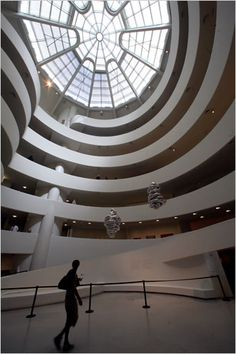 Wright's love of the automobile inspired some of his most innovative architectural concepts and ultimately his most radical design, the Guggenheim. He recognized the most important architectural fact about the automobile: its need for smooth surfaces to travel on.  Photo: Suzanne Dechillo//The New York Times    RELATED
