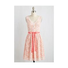 Pastel Mid-length Sleeveless A-line Hamptons of Fun Dress ($70) ❤ liked on Polyvore featuring dresses, apparel, fashion dress, pink, sleeveless dress, pink sleeveless dress, a line cocktail dress, mid length dresses and pink lace dress