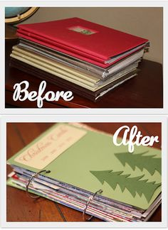 Card keeper book tutorial tutorials books and organizing christmas card storage a great way to keep cards for all holidays bookmarktalkfo Images
