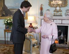 Queen Elizabeth II Photos - Queen Elizabeth II Meets Canadian Prime Minister Justin Trudeau - Zimbio