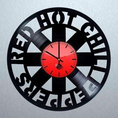 Red Hot Chili Peppers Handmade Vinyl Record Wall Clock Fan Gift for RHCP fans