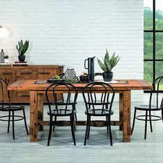 Happy Sunday! Industrial 7 piece dining suite with replica chairs - only $899!