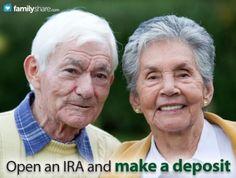 FamilyShare.com l Open an IRA and make a deposit.