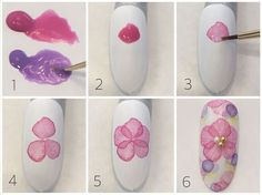 Simple Nail Art Designs That You Can Do Yourself – Your Beautiful Nails Floral Nail Art, Nail Art Diy, Cool Nail Art, Diy Nails, Sharpie Nail Art, Nail Art Designs, Water Color Nails, Nail Art Techniques, Japanese Nail Art