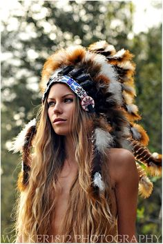 hat photo Indian chief hat feather native portrait model