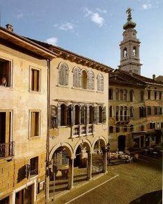 Piazza Duomo con il campanile del Juvara - Dolomites, province of Belluno, Veneto, Northern Italy