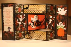 Halloween Tri fold shutter Card by figaro - Cards and Paper Crafts at Splitcoaststampers