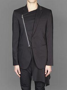 D.Gnak by Kang.D zippered draped blazed with two buttons an two flap pockets #dgnak #dbyd #dgnakbykangd